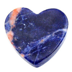 Natural 13.40cts sodalite orange cabochon 20x20 mm heart loose gemstone s17729