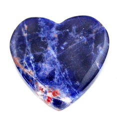 Natural 13.20cts sodalite orange cabochon 20x20 mm heart loose gemstone s17739