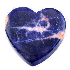 Natural 17.40cts sodalite orange cabochon 21x21 mm heart loose gemstone s17721