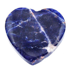Natural 16.30cts sodalite orange cabochon 21x21 mm heart loose gemstone s17723