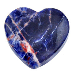 Natural 16.30cts sodalite orange cabochon 21x21 mm heart loose gemstone s17724