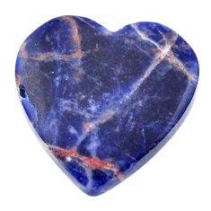 Natural 13.45cts sodalite orange cabochon 21x21 mm heart loose gemstone s17725