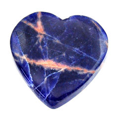 Natural 12.40cts sodalite orange cabochon 21x21 mm heart loose gemstone s17727