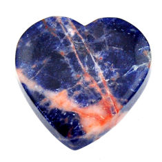 Natural 19.45cts sodalite orange cabochon 21x21 mm heart loose gemstone s17731