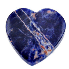 Natural 12.35cts sodalite orange cabochon 21x21 mm heart loose gemstone s17732