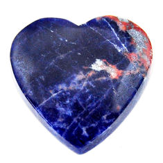 Natural 17.40cts sodalite orange cabochon 21x21 mm heart loose gemstone s17735