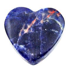 Natural 16.30cts sodalite orange cabochon 21x21 mm heart loose gemstone s17737