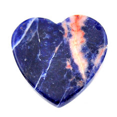 Natural 16.30cts sodalite orange cabochon 22.5x22 mm heart loose gemstone s17740