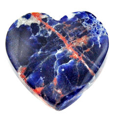 Natural 19.15cts sodalite orange cabochon 22x21.5 mm heart loose gemstone s17738