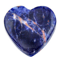 Natural 17.10cts sodalite orange cabochon 22x22 mm heart loose gemstone s17733
