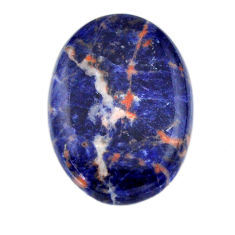 Natural 34.45cts sodalite orange cabochon 32x23 mm oval loose gemstone s19394