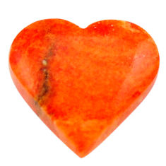 Natural 7.10cts sponge coral red cabochon 16x15 mm heart loose gemstone s17874