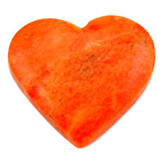 Natural 6.25cts sponge coral red cabochon 16x16 mm heart loose gemstone s17866