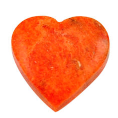 Natural 7.40cts sponge coral red cabochon 16x16 mm heart loose gemstone s17877
