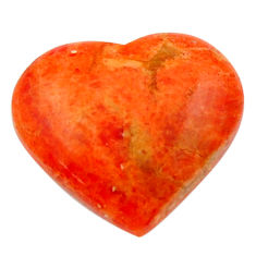 Natural 8.25cts sponge coral red cabochon 17.5x16 mm heart loose gemstone s17879