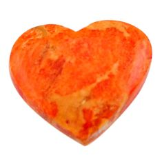 Natural 6.30cts sponge coral red cabochon 17x15 mm heart loose gemstone s17873