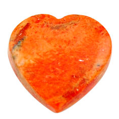 Natural 7.40cts sponge coral red cabochon 17x16 mm heart loose gemstone s17862
