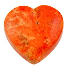Natural 13.10cts sponge coral red cabochon 18x18 mm heart loose gemstone s17876