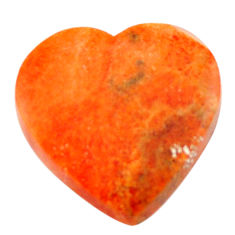Natural 10.30cts sponge coral red cabochon 19x19 mm heart loose gemstone s17872
