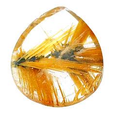 Natural 8.10cts star rutilated quartz golden 18x14 mm loose gemstone s22611