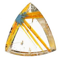 Natural 8.15cts star rutilated quartz golden 18x15 mm loose gemstone s22608