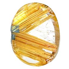 Natural 12.40cts star rutilated quartz golden 19x13.5 mm loose gemstone s22640