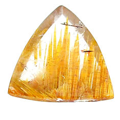 Natural 12.40cts star rutilated quartz golden 19x17 mm loose gemstone s22612