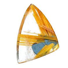Natural 7.40cts star rutilated quartz golden 21x13mm fancy loose gemstone s22604
