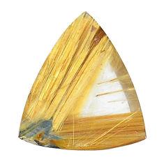 Natural 13.10cts star rutilated quartz golden 21x17 mm loose gemstone s22620