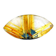 Natural 8.45cts star rutilated quartz golden 22x12 mm loose gemstone s22632