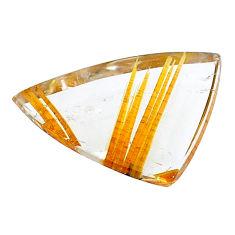 Natural 12.35cts star rutilated quartz golden 23.5x16 mm loose gemstone s22633