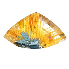 Natural 15.10cts star rutilated quartz golden 23x15 mm loose gemstone s22628