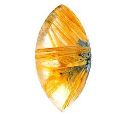 Natural 12.40cts star rutilated quartz golden 24x11 mm loose gemstone s22626
