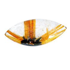 Natural 8.25cts star rutilated quartz golden 24x12 mm loose gemstone s22602