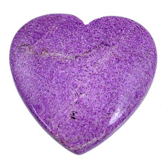 Natural 15.05cts stichtite purple cabochon 25x25 mm heart loose gemstone s20314