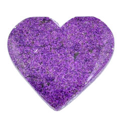 Natural 20.15cts stichtite purple cabochon 27x25 mm heart loose gemstone s20316