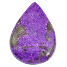 Natural 16.30cts stichtite purple cabochon 28x19 mm pear loose gemstone s20286