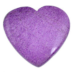 Natural 24.05cts stichtite purple cabochon 28x26 mm heart loose gemstone s20312