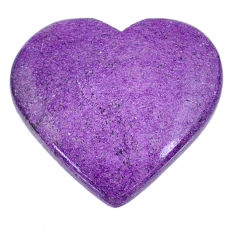 Natural 26.30cts stichtite purple cabochon 29x27 mm heart loose gemstone s20299