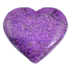 Natural 25.10cts stichtite purple cabochon 30x27 mm heart loose gemstone s20315
