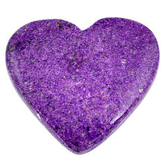 Natural 33.45cts stichtite purple cabochon 33.5x30mm heart loose gemstone s20294