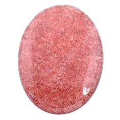 Natural 51.30cts strawberry quartz red 38.5x28.5 mm oval loose gemstone s20629
