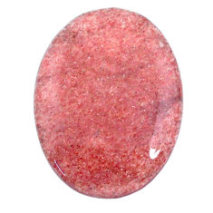 Natural 38.40cts strawberry quartz red cabochon 33x25 mm loose gemstone s20630