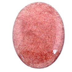 Natural 48.40cts strawberry quartz red cabochon 37x27.5 mm loose gemstone s20636