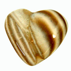 Natural 13.10cts striped flint ohio grey 19x17 mm heart loose gemstone s17323