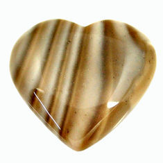 Natural 13.25cts striped flint ohio grey 20x18.5 mm heart loose gemstone s17360