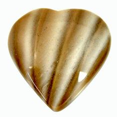striped flint ohio grey 20x20 mm heart loose gemstone s17321