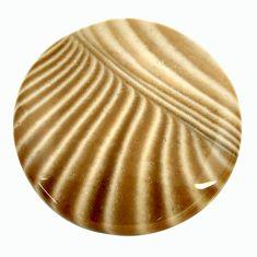 striped flint ohio grey 21.5x21.5 mm oval loose gemstone s17338
