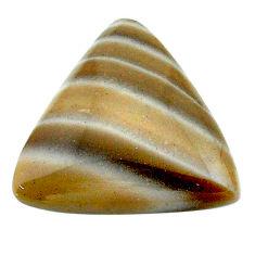 Natural 16.20cts striped flint ohio grey 21x20 mm trillion loose gemstone s23204