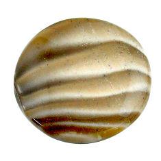 Natural 19.45cts striped flint ohio grey 22.5x22.5mm round loose gemstone s23189